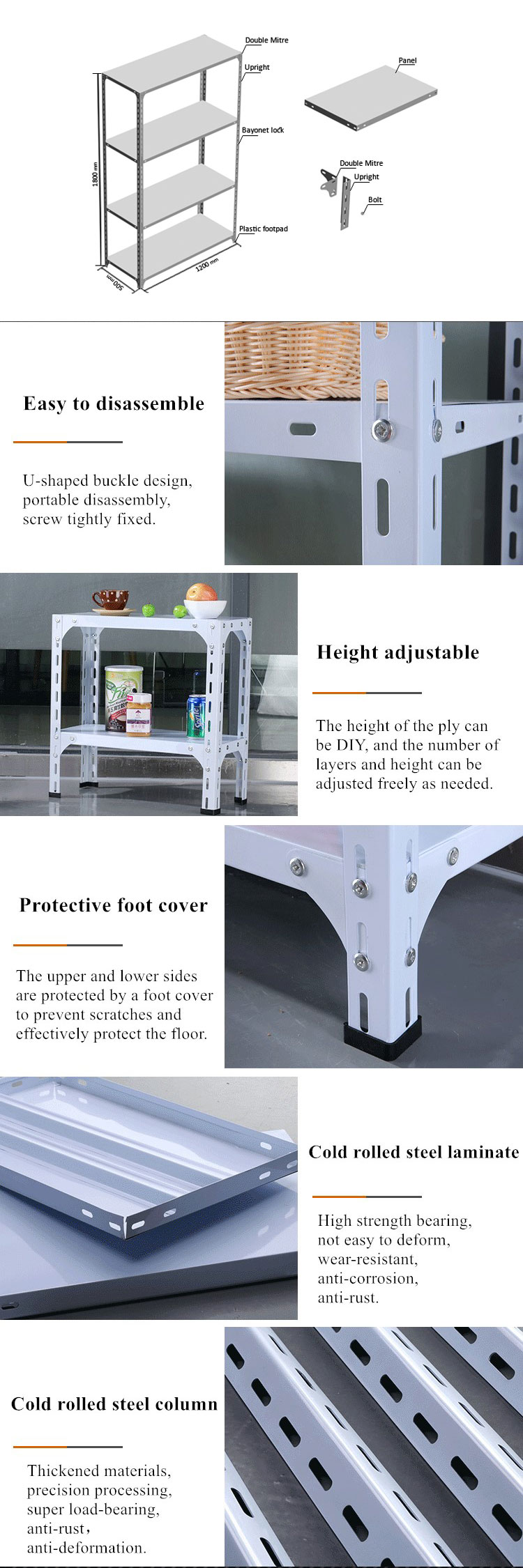 Details of Slotted Angle Shelving