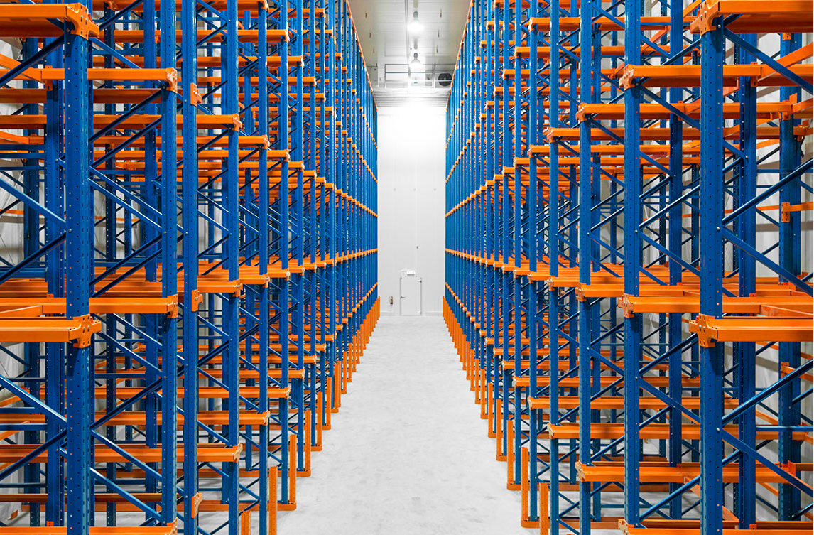 How many production forms of Press-in heavy warehouse racks have?