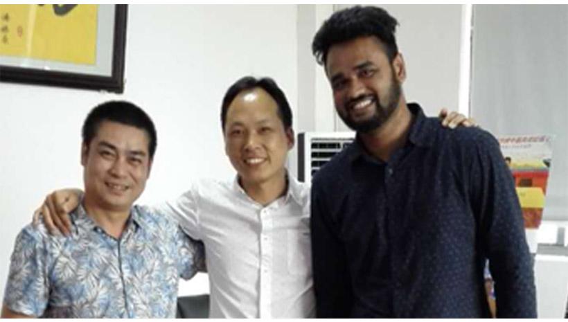 Bangladesh client visited pallet truck plant