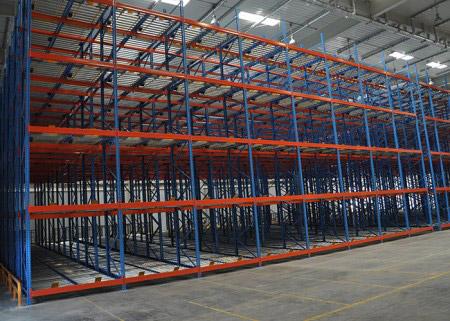Multi Level Gravity Flow Racks for Warehouse Stoarage