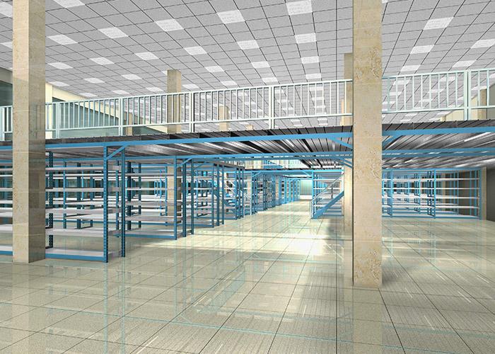 Design warehouse storage steel mezzanine platform