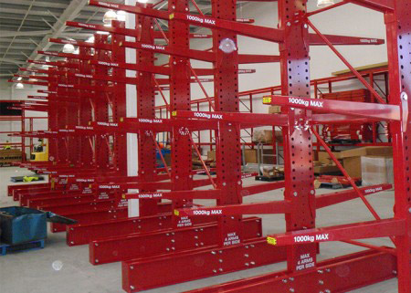 Warehouse cantilever shelving pipe storage rack