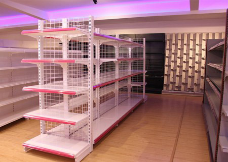 Gondola supermarket shelving for retail shop
