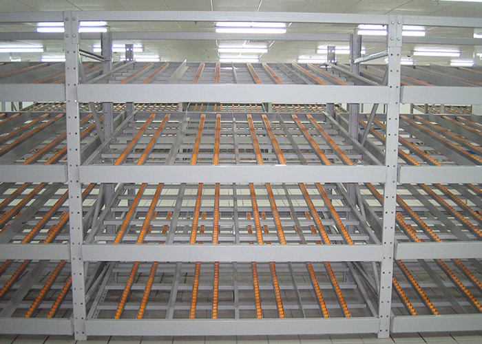 Warehouse industrial carton live storage racks