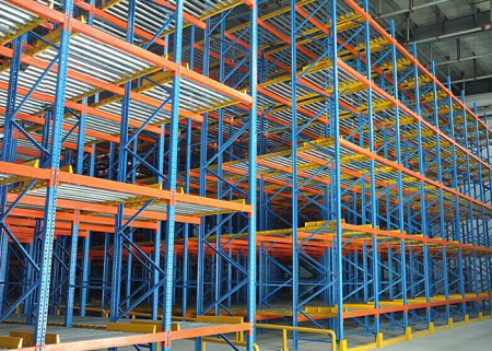 Logistic equipment gravity flow pallet rack for sale