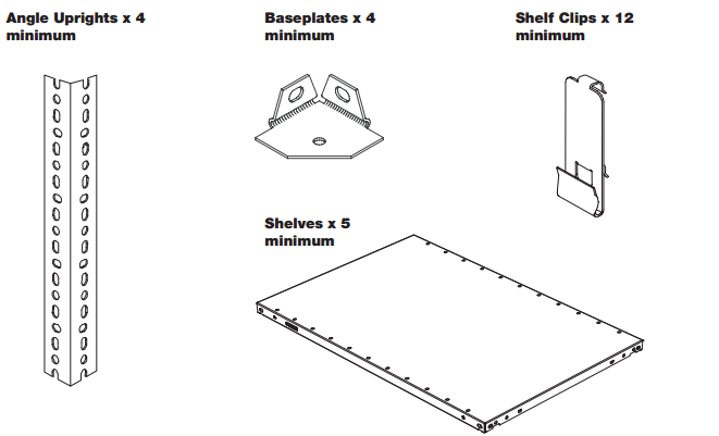 10-Slotted Angle Shelving