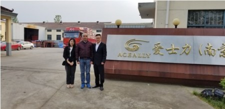The Consultancy of the Angola Client Who Visited Our Factory to Do the Factory Inspection in 11th, April