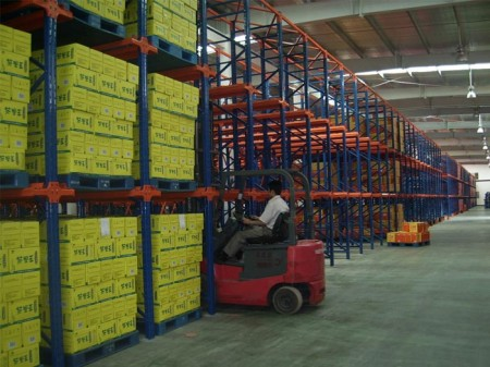 Application of Drive in pallet racking