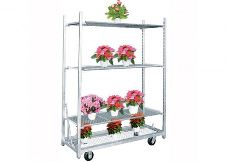 Aceally Heavy Duty Dutch Wire Mesh Danish Cart Trolley