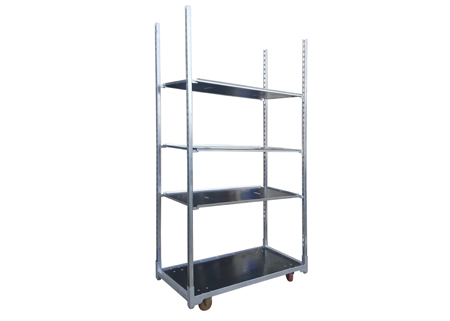 Greenhouse solid steel trolley flower cart wholesale