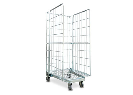 Warehouse steel wire logistics trolley container storage cages