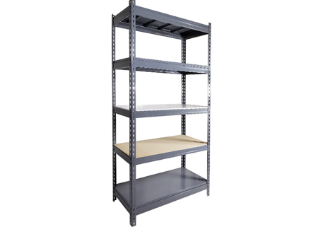 Light duty steel storage boltless rivet rack