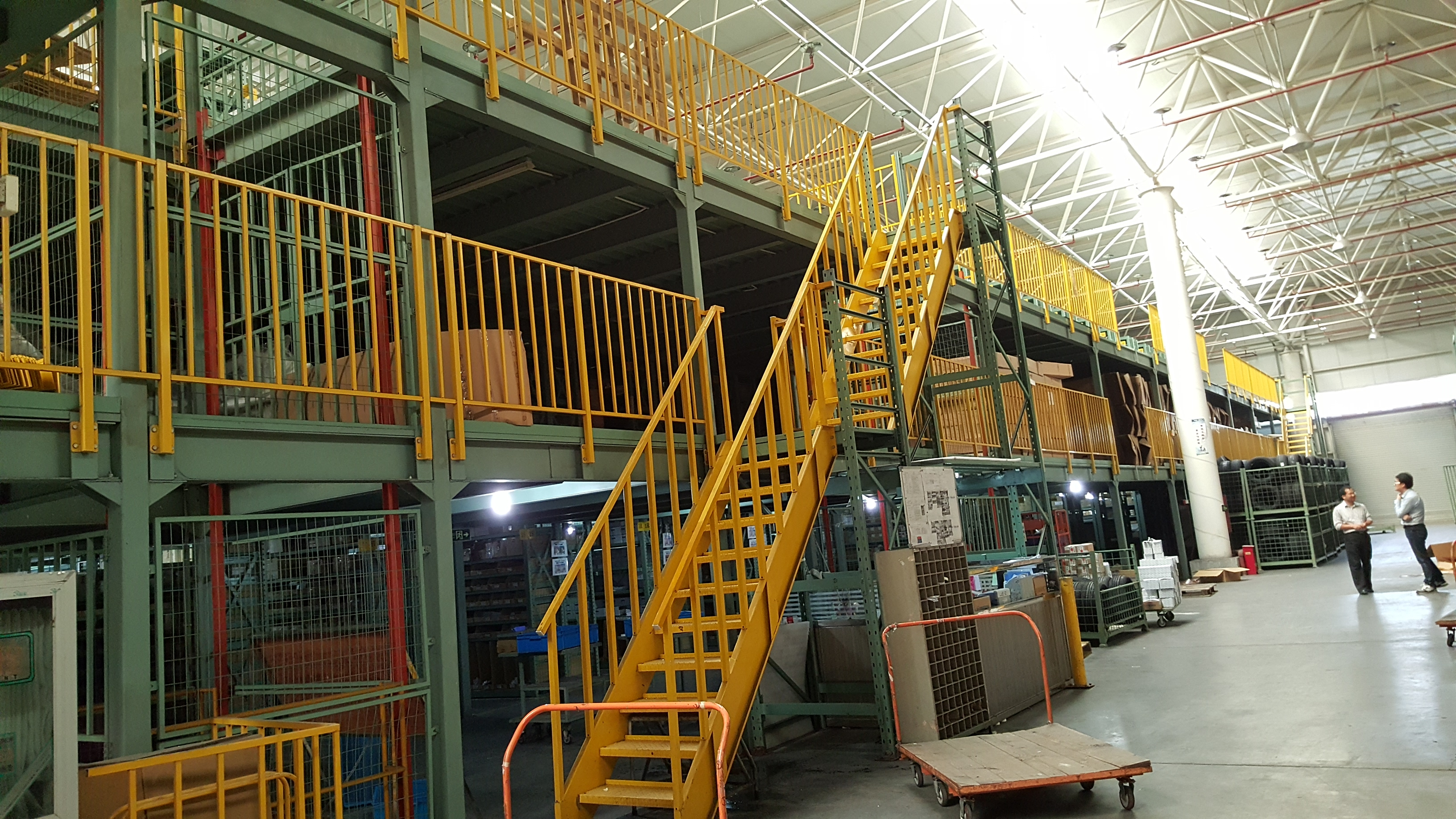 What are the application advantages of the mezzanine floor?