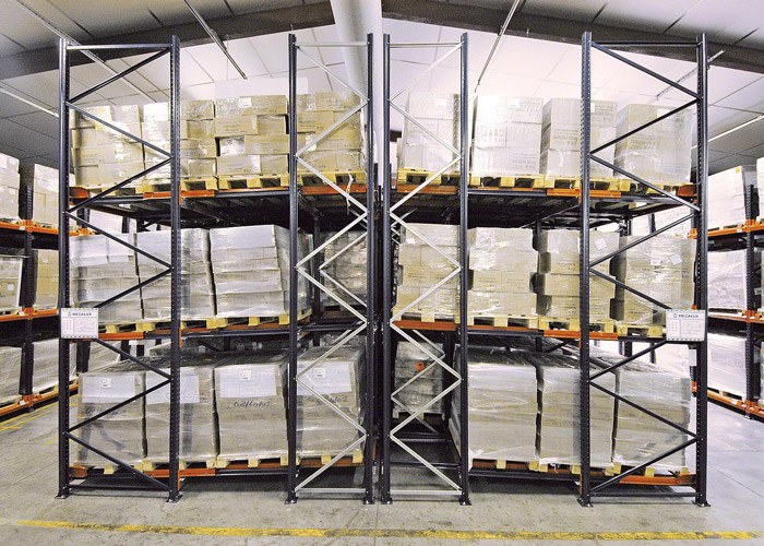 High Density LIFO Push Back Pallet Racking System