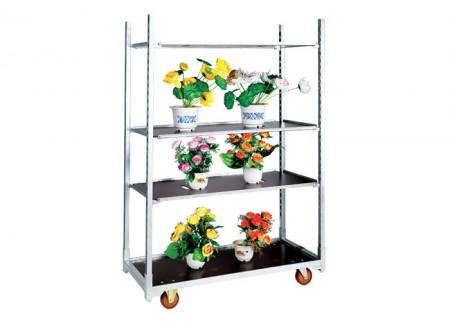 Movable Greenhouse Nursery Flower Display Trolley Cart