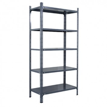 Light duty slotted steel angle shelving