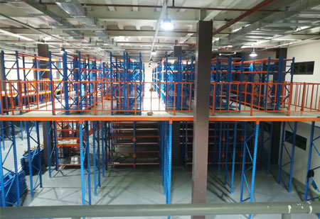 Aceally factory  customized steel pallet racking mezzanine floors rack