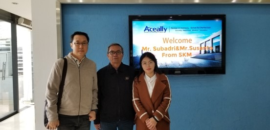 Clients from Indonesia Visited Aceally Headquarter in 7th, March