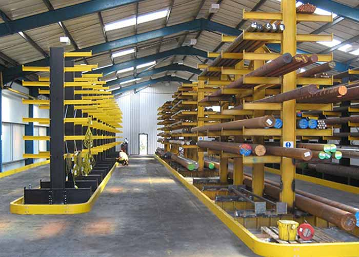 Warehouse steel storage cantilever racking systems