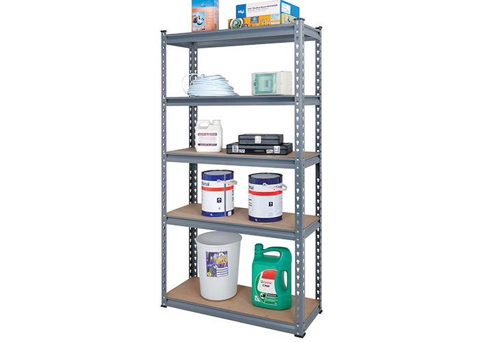 Adjustable heavy duty rivet shelving without bolts and nuts