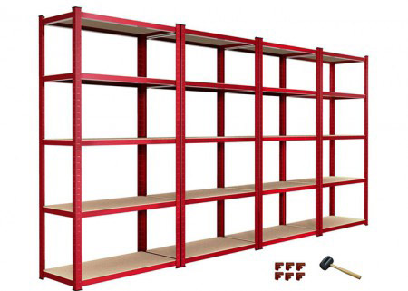 European style 5 tier garage shelving unit boltless shelving