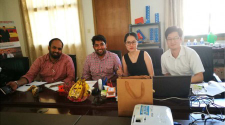 Client Anshar & Ali from Qatar visit Aceally Factory in Nanjing on August 22nd, 2017