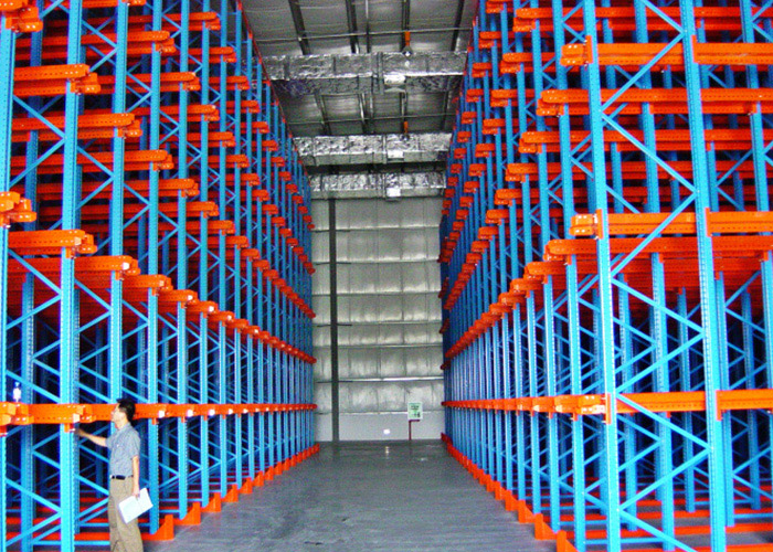 Industrial Warehouse Drive In Pallet Rack For High Density Storage ...