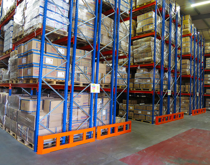 Double deep pallet racking storage shelving steel rack for sale