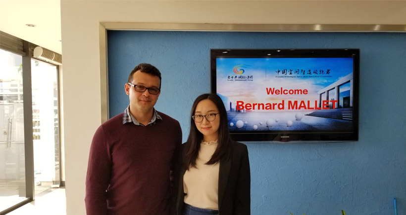 The Customer from Madagascar visit Aceally Racking Xiamen office