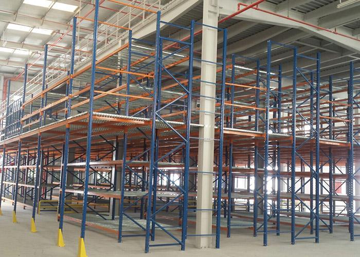 Steel Structure Mezzanine Floor for Industrial Warehouse Storage