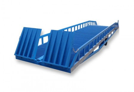 Mobile hydraulic dock ramp of portable loading heavy duty