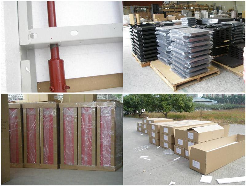 Mobile shelving packing