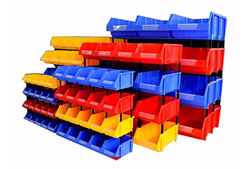 plastic parts bins stackable used for warehouse