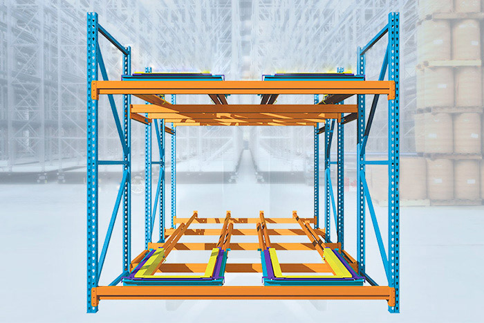 Push back pallet rack5