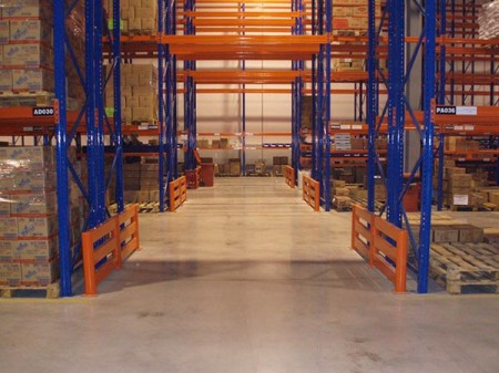 What is Push-back pallet shelves
