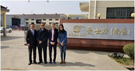 Client from Singapore Visit Aceally Factories in Nanjing & Nantong on March 19, 2019