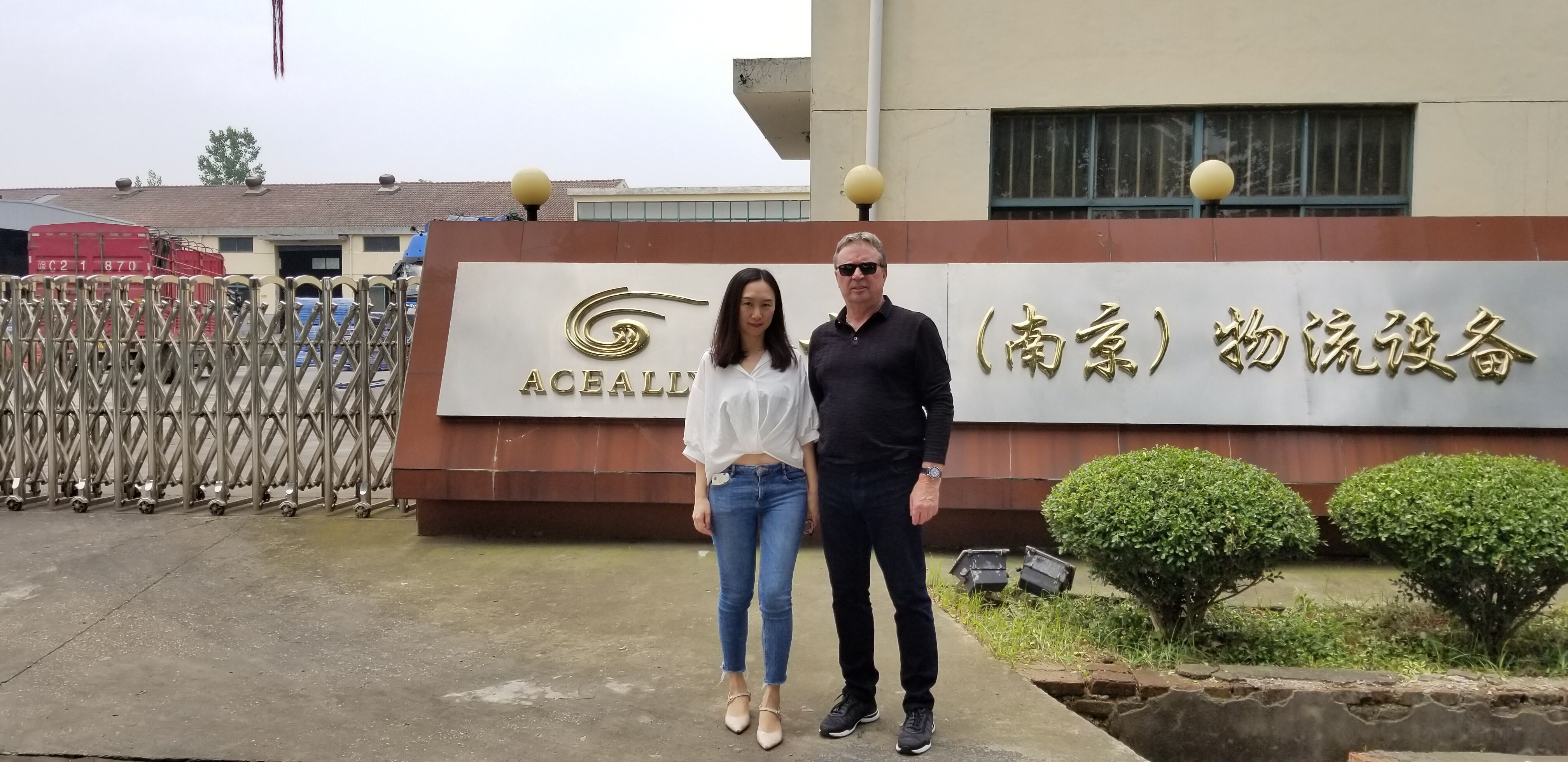 The Client from Canada paid a visit on Aceally Nanjing Racking Factory