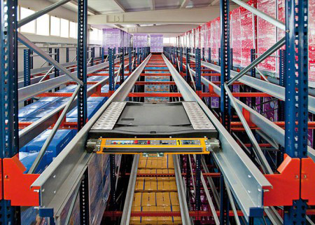 Radio Shuttle Racking Pallet Storage System