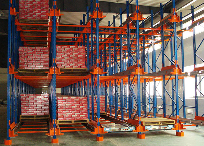 Massive storage radio shuttle racking system