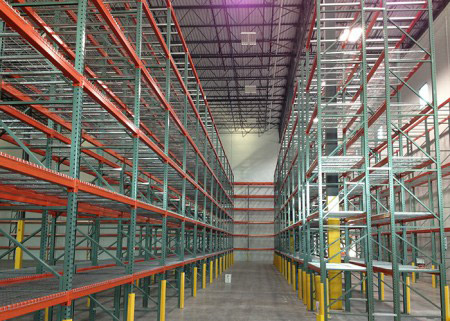 USA Q235B steel teardrop shelving for warehouse
