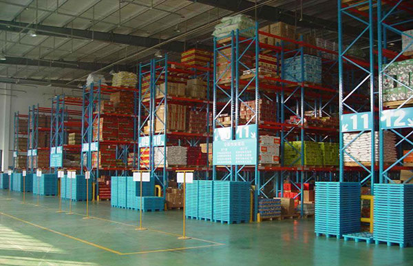 Warehouse cold storage pallet rack