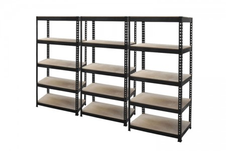 Adjustable rivet shelving without bolts and nuts