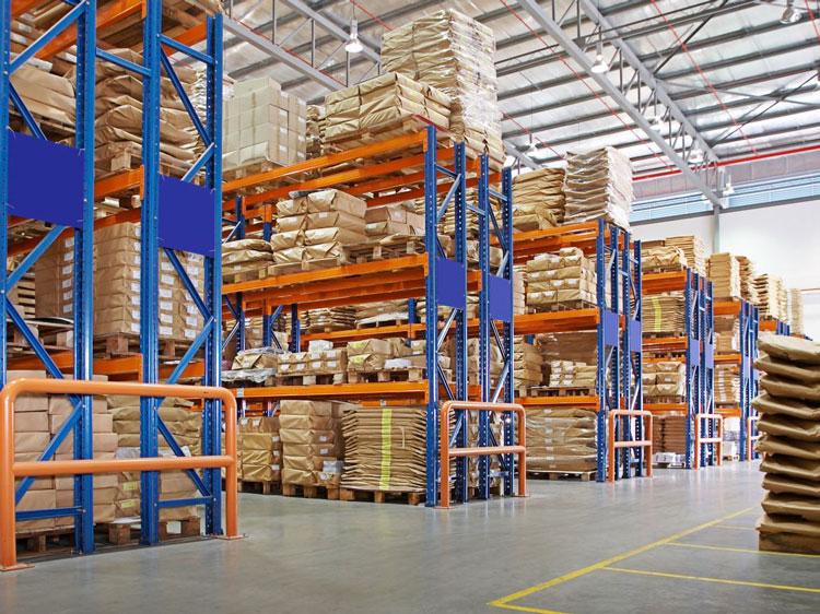 Goods falling from warehouse shelf storage racks?
