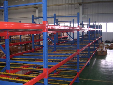 The function of carton flow rack system in warehouse