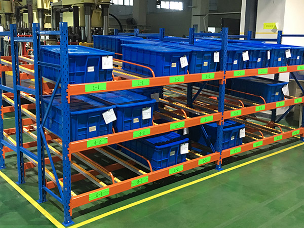 Adjustable carton flow rack