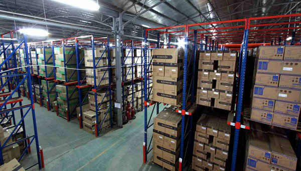 Cold storage push pull pallet racking