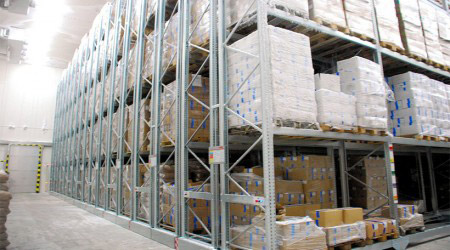 Q235 steel cold storage racks for warehouse storage