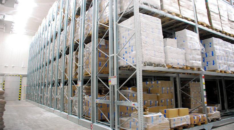 Q235 steel cold storage racks for warehouse storage