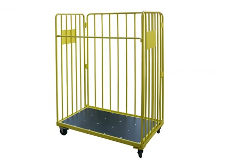 Warehouse steel folding logistic trolley