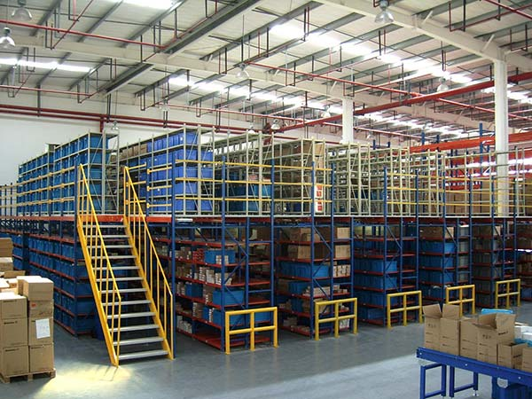 Why do mezzanine pallet racking save space